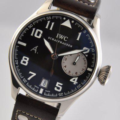 FS: IWC Big Pilot Saint Exupery 18k White Gold Brown LIMITED IW500420 7Days Automatic Strap