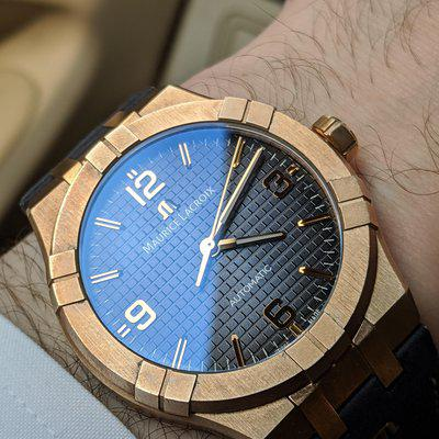 FS Maurice Lacroix Aikon Bronze - 42mm - LE - Blue Dial - Real Looker!