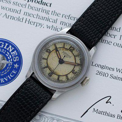 Longines Tre Tacche with Double Signed Sector Dial