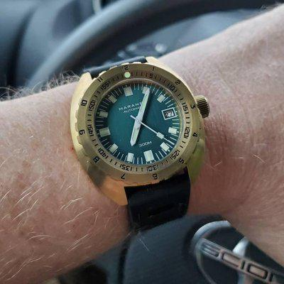 For sale or trade Maranez Samui brass teal dial