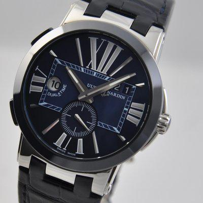 FS: Ulysse Nardin Executive Dual Time Blue Steel 243-00/43 43mm on Leather Automatic (2018)