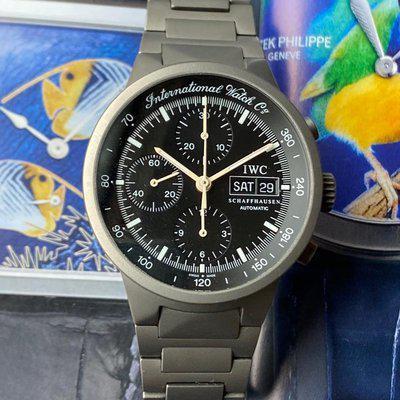 FS: IWC GST Chronograph Titanium Automatic Black Dial 370703