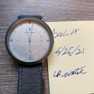 [WTS] Lilienthal Berlin Zeitgeist Auto SW200 movement German Made. Only worn a couple of times.