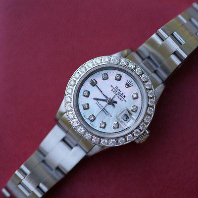 FS: Rolex Ladies Date 6919 With Diamond bezel and diamond dial