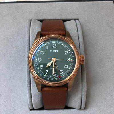 [WTS] Oris Big Crown Pointer Date Bronze with Green Dial