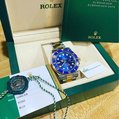 Rolex 116613LB Two Tone Submariner MINT complete!