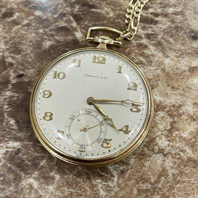 FS: Marcus and Co. Pocket Watch 14k Gold