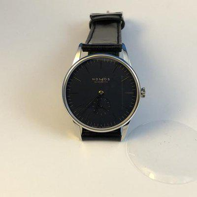 FSOT: LNIB Nomos Orion 38 MidNight Blue, Midnight blue Dial,  Gold Hands. Under Warranty Complete.  New Price Reduction