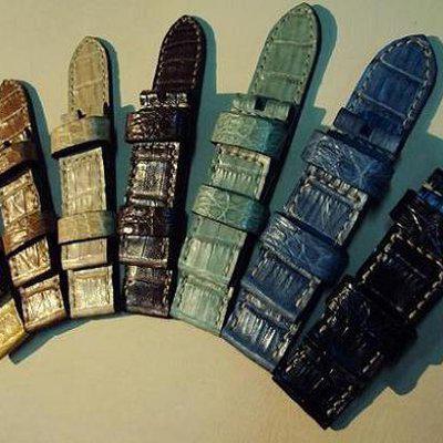 FS: 7 crocodile Panerai straps & some custom ultralength straps Porder801~806 & custom straps Porder601~610. Cheergiant straps