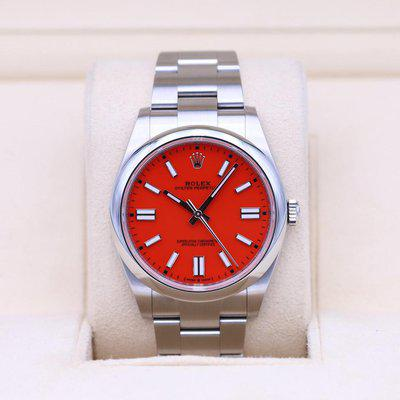 FSOT: Rolex Oyster Perpetual 124300 Red Dial 41mm – 2021 Box & Papers