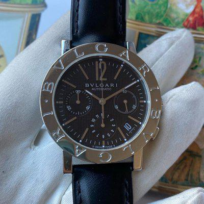 FS: Bvlgari Chronograph Black Dial 38mm Automatic BB38SL