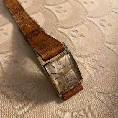 FS - Longines 14kt gold tank faceted crystal