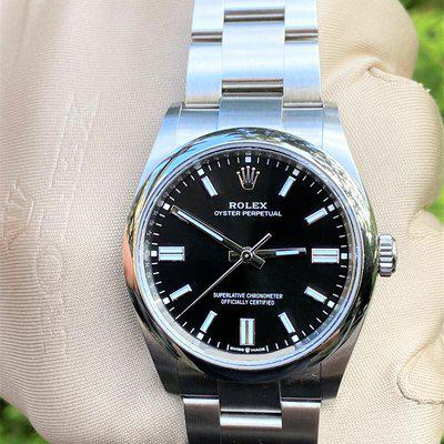 Rolex Oyster Perpetual 36mm Black Dial 126000