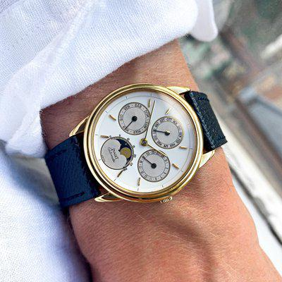 FS: 1991 Piaget Gouverneur 15958 Triple Calendar Moonphase with Papers