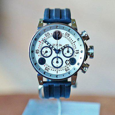 FS BRM V12 AUTOMATIC DATE CHRONOGRAPH WHITE & SILVER 44MM