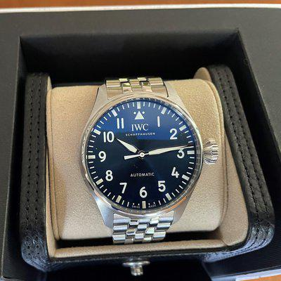 LNIB IWC Big Pilot 43 Blue Dial with Bracelet reference # IW329304 with extra strap
