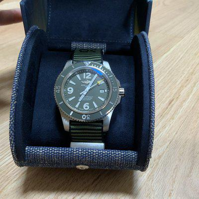 FS: Breitling Superocean 44 Outerknown Green A17367A11L1W1 complete with box and papers. Like new!