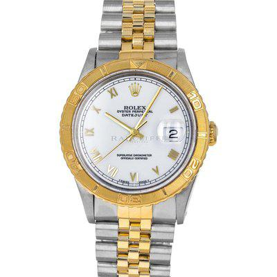 FS- Rolex 16263 Datejust Turn-O-Graph X Thunderbird White Dial Box Papers