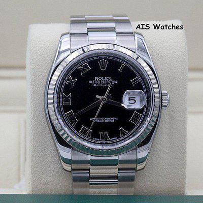 FSOT - Rolex Datejust 36MM 116234 Black Roman Dial Oyster Box & Papers