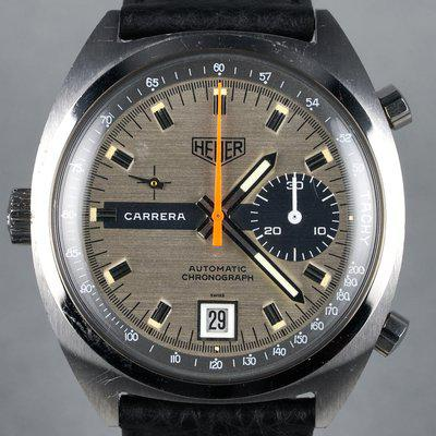 FS: 1970s Heuer Carrera Ref: 1553S with Silver Dial