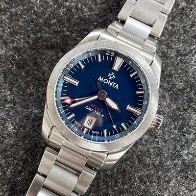 [WTS] Monta Atlas - Blue dial with extras! - $1300