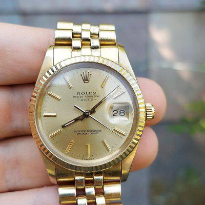 [WTS] Rolex 15037 Solid 14k Gold, All Original and Never Polished