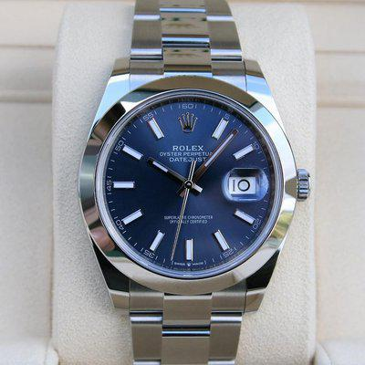 FS: Rolex 126300 Datejust 41MM Blue Stick Dial NIB
