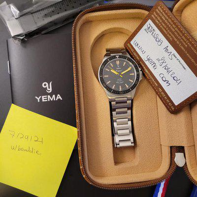 [WTS] Yema Navygraf Heritage with extra Rubber Strap