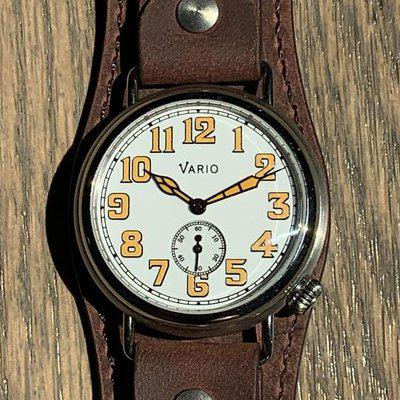 FS: Vario WW1 1918 Trench Watch | White and Orange | Mint Condition