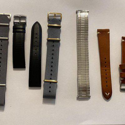For Sale awesome 20mm straps (Geckota,RIOS,Nato) hand made Italian leather all for price one