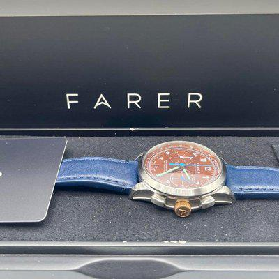 [WTS] Farer Eldridge Limited Edition Chronograph Bracelet and Leather strap, Box and Papers