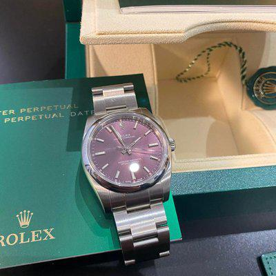 [WTS] Rolex Oyster Perpetual 34mm Purple Dial 114200 2018