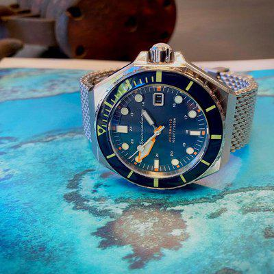 [WTS] Spinnaker Dumas Coral Blue 44mm dive watch - Like new