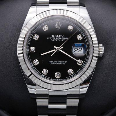 FSOT: Rolex Datejust 41 - 126334 - Black Diamond Dial - Stainless - New 2021