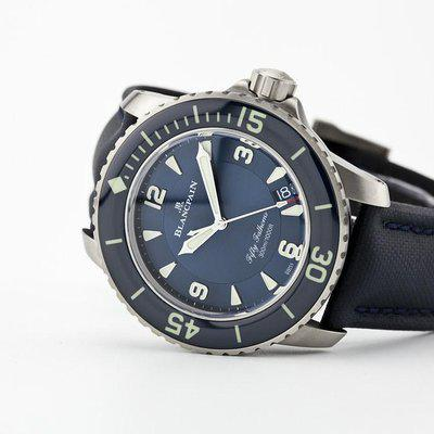 fsot - Blancpain Fifty Fathoms - Blue - Titanium 45mm - 5015-12B40-O52A ( new / 2021 )