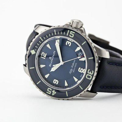 fsot - Blancpain Fifty Fathoms - Blue - Titanium 45mm - 5015-12B40-O52A ( new / 2020 )