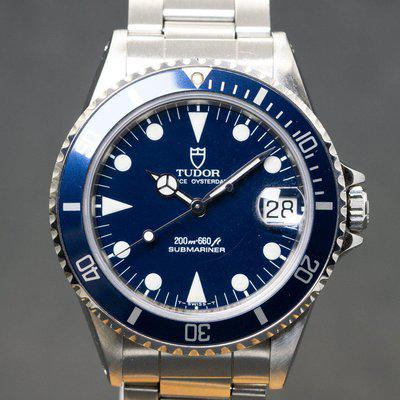 1993 Tudor 'Blue' Submariner Ref. 75090 with Box & Papers