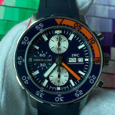 FS:IWC Aquatimer Chronograph Stainless Steel Blue Dial IW376704