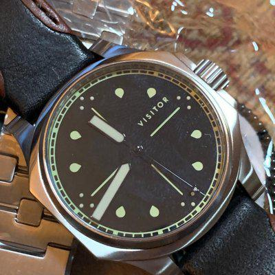 SOLD-thanks WUS and buyer! FS: Reduced to $750! Vale Park Officer from Visitor Watch with OEM strap plus special Visitor bracelet