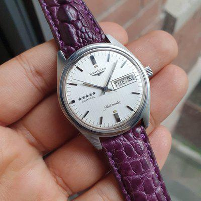 FS: Longines Linen 1972 Admiral 5 star SERVICED Vintage Automatic Sport Watch