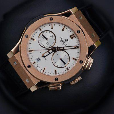 FS: Excellent condition Hublot Classic Fusion Rose Gold Silver Dial 541.OX.2610.LR.