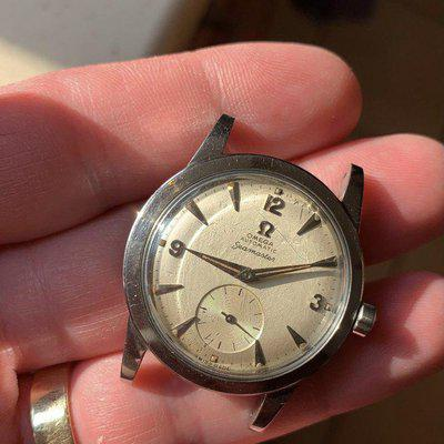 FS - 1950 Omega (BEEFY lug) Seamaster 2576-13.LOVELY lume plots.INSANE dial. SERVICED.SUB second. 342 cal