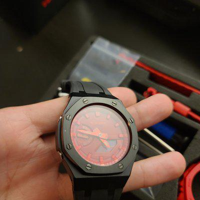 """[WTS] GSHOCK GA-2100 """"Royal Broke"""" with gen 3 case, silicone strap (slightly damaged, read comment for more info), conversion kit, original case and strap, box + papers $150 + shipping CONUS"""