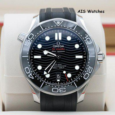 FSOT: BNIB Omega Seamaster 300M 42MM Diver Black Wave Dial 210.30.42.20.04.001 B&P