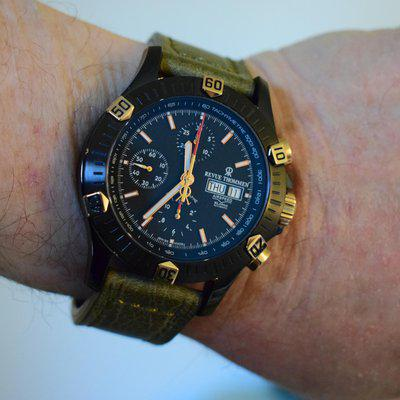 ***FS ONLY***Revue Thommen**Airspeed Chronograph XL**PVD/Gold/Gilt***REDUCED