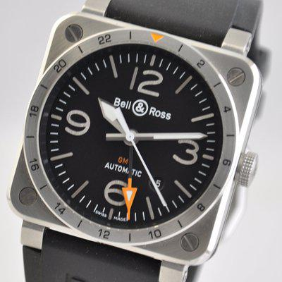 FS: Bell & Ross Aviation GMT BR03-93-GMT Steel Black 42mm BR0393 Automatic