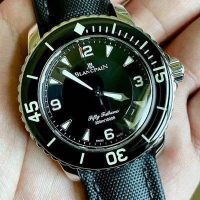 FS: Blancpain Fifty Fathoms Automatique (50 Fathoms) Ref: 5015-1130-52A - Box and Papers