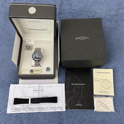 SOLD>> Armand Nicolet M02-4 Black Dial 42mm Automatic