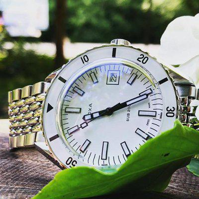 SOLD!!!!!! DOXA SUB 200 PEARLMASTER 42MM Diver with amazing white dial