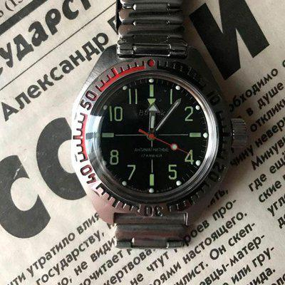 """[WTS] [Reduced] Vostok Amphibia """"Sniper"""" dial, USSR (Serviced)"""